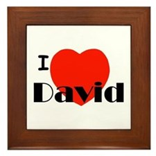I Love David Framed Tile