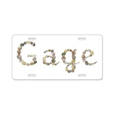 Gage Seashells Aluminum License Plate