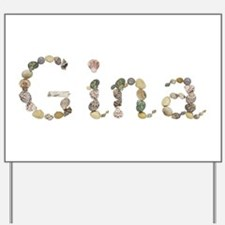Gina Seashells Yard Sign