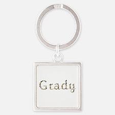 Grady Seashells Square Keychain