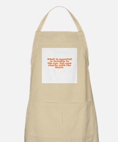 What is essential is invisibl BBQ Apron
