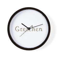Gretchen Seashells Wall Clock