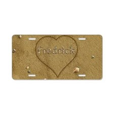 Fredrick Beach Love Aluminum License Plate