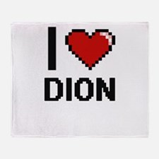I Love Dion Throw Blanket