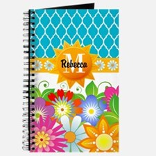 Spring Flowers Monogram Custom Journal