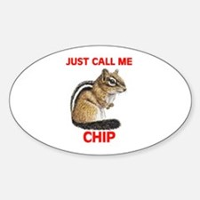 CHIPMUNK Oval Decal