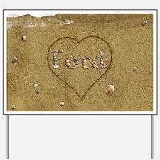 Ford Beach Love Yard Sign