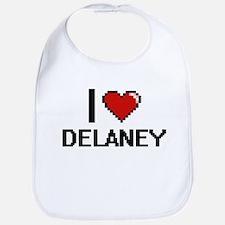 I Love Delaney Bib