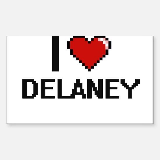 I Love Delaney Decal