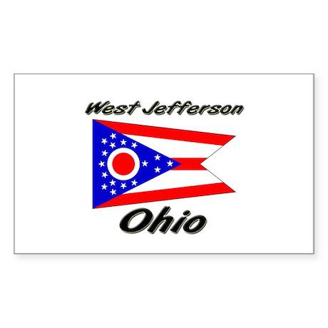 West Jefferson Ohio Rectangle Sticker