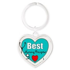 Cute Rn graduation Heart Keychain