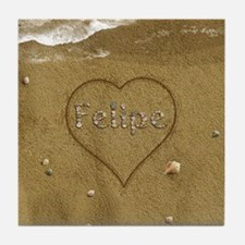 Felipe Beach Love Tile Coaster