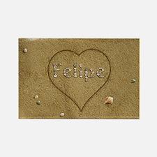 Felipe Beach Love Rectangle Magnet