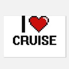 I Love Cruise Postcards (Package of 8)
