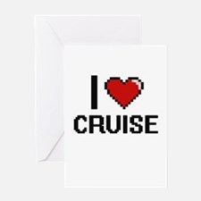 I Love Cruise Greeting Cards