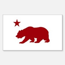 Funny California state flag Decal