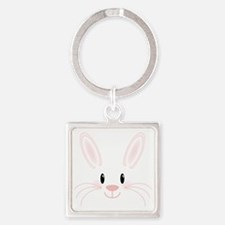 Bunny Face Square Keychain