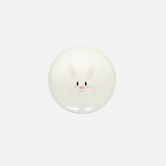 Bunny Face Mini Button