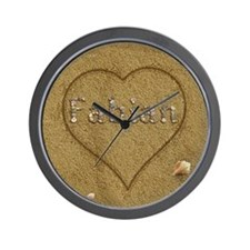 Fabian Beach Love Wall Clock