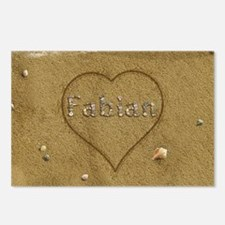 Fabian Beach Love Postcards (Package of 8)