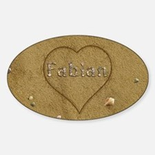 Fabian Beach Love Sticker (Oval)