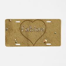 Fabian Beach Love Aluminum License Plate