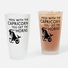 Capricorn Horns Drinking Glass