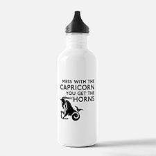 Capricorn Horns Water Bottle