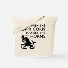 Capricorn Horns Tote Bag