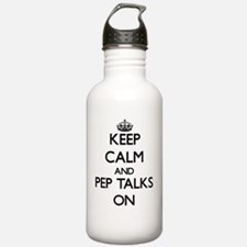 Keep Calm and Pep Talk Water Bottle