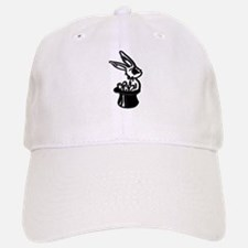 Bunny Rabbit Sits in Top Hat Baseball Baseball Cap