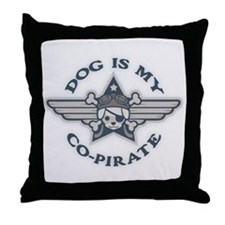 Dog Is My Co-Pirate 0315 Throw Pillow