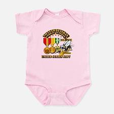 Navy - Seabee - Vietnam Vet - w Me Infant Bodysuit
