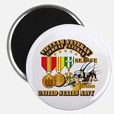"""Navy - Seabee - Vietnam Vet 2.25"""" Magnet (10 pack)"""