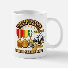 Navy - Seabee - Vietnam Vet - w Medals Mug