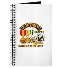Navy - Seabee - Vietnam Vet - w Medals - S Journal