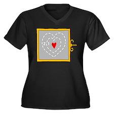 Grinch Heart 2 Plus Size T-Shirt