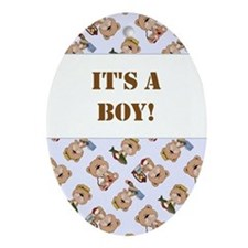 IT'S A BOY! Ornament (Oval)