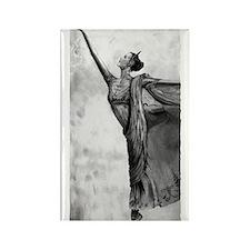 Ballerina Dancer Rectangle Magnet