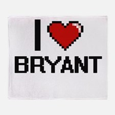 I Love Bryant Throw Blanket