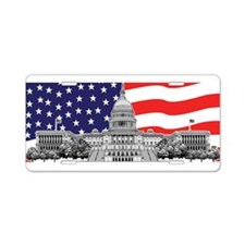US Capitol Building American Aluminum License Plat