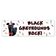 Black Greyhounds Rock Bumper Bumper Sticker