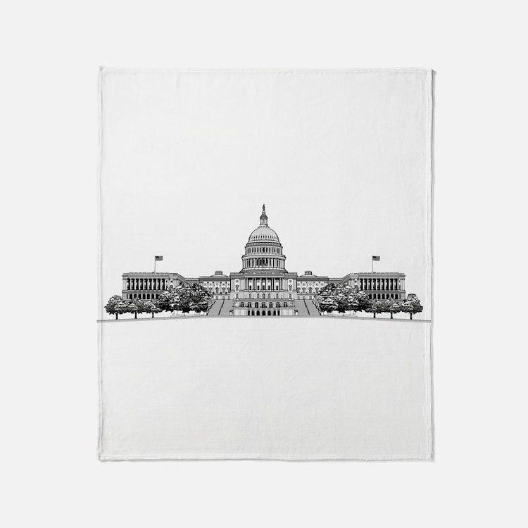 US Capitol Building Throw Blanket
