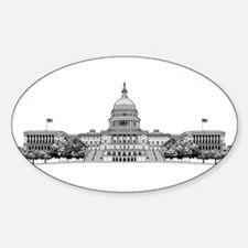 US Capitol Building Sticker (Oval)