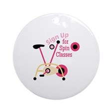 Spin Classes Ornament (Round)