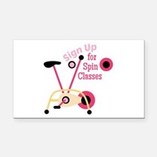 Spin Classes Rectangle Car Magnet