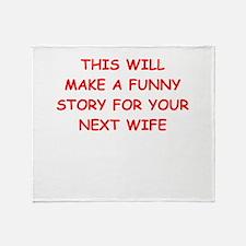 divorce Throw Blanket