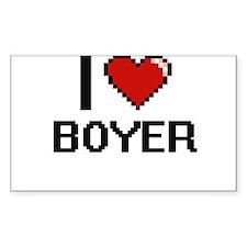 I Love Boyer Decal