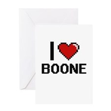 I Love Boone Greeting Cards