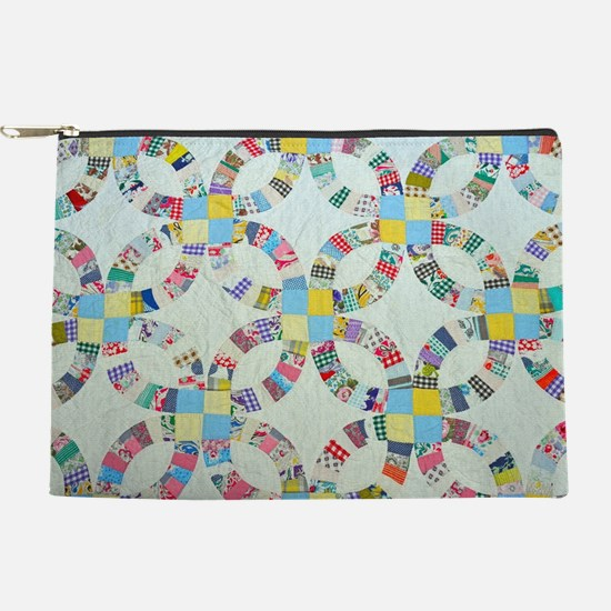 Colorful patchwork quilt Makeup Pouch